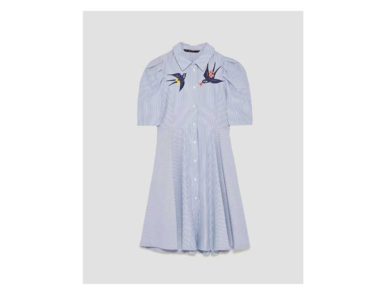 Shirt dress by Zara available at Mall of the Emirates and City Centres