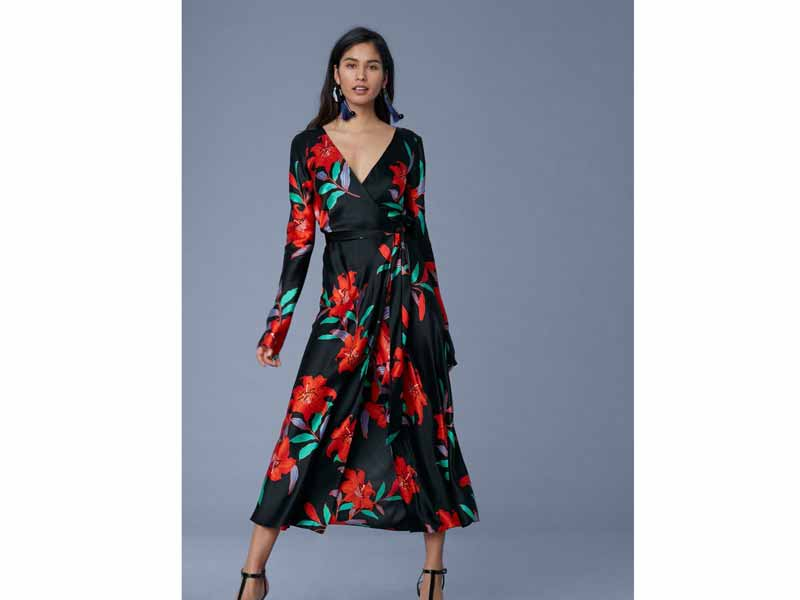 Dress by Diane von Furstenberg, available at Mall of the Emirates and City Centre Mirdif