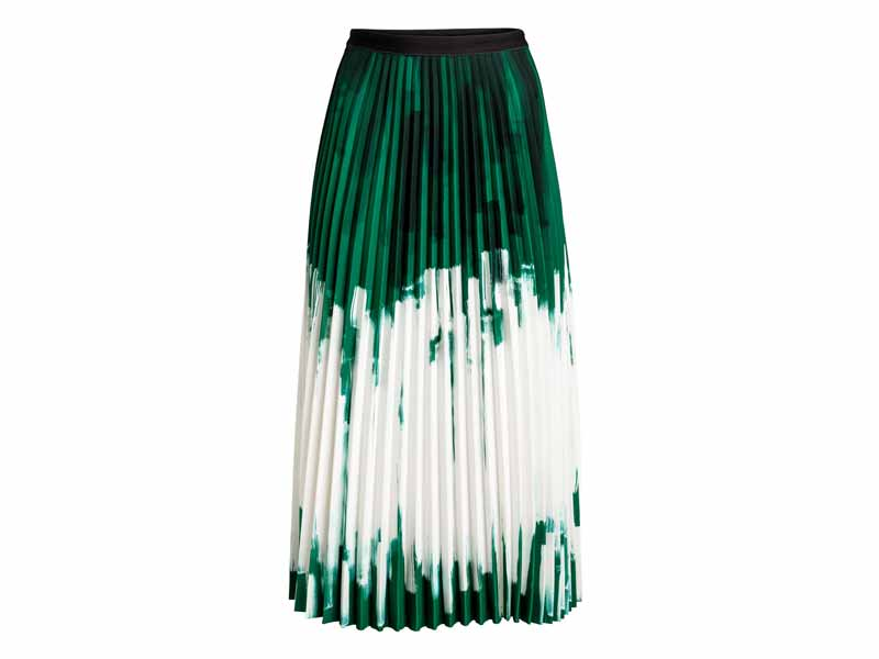 Pleated skirt by H&M, available at Mall of the Emirates and City Centres