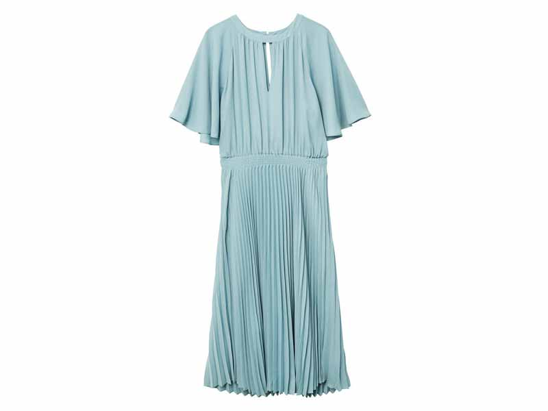 Pleated dress by Mango, available at Mall of the Emirates and Majid Al Futtaim City Centres
