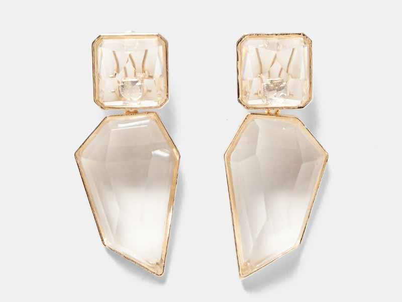 Clear stone earrings by Zara Alexandria