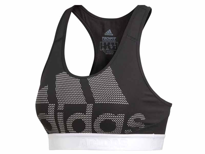 Sports bra by Adidas, available at Mall of the Emirates, plus Mall of Egypt and City Centres