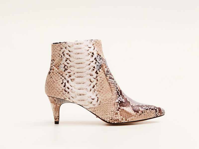 Snake print boots by Mango, available at Mall of the Emirates and City Centres