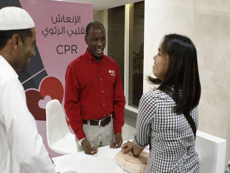 Receive a complimentary heart screening in the mall