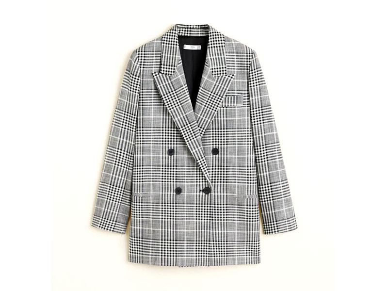 Check print blazer by Mango, available at City Centres
