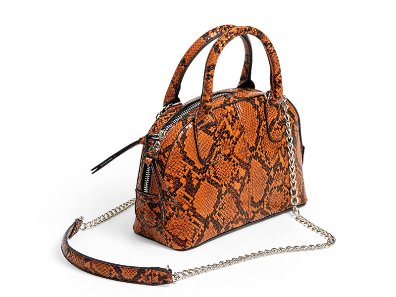 Orange snakeskin bag by Stradivarius, at Mall of Egypt and City Centres